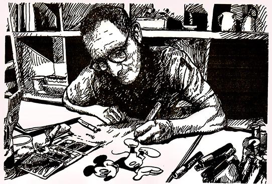 sacha schwarz artiste peintre dans son atelier